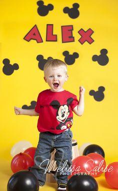Melissa Calise Photography (2nd Birthday Photo Shoot Ideas Mickey Disney Boy)