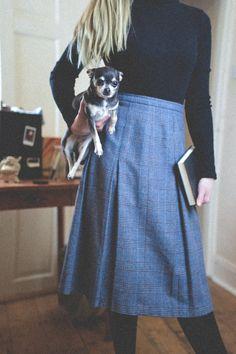 -KOSTENLOSER VERSAND-  DRUCILLA ***  Ein wunderschöne Vintage 80er Plissee Tweed Rock. UK Damen Größe 10-12.  Dies ist Bibliothekar zu