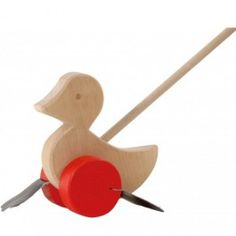 (I distinctly remember having something like this when I was little and loving it) Wooden Duck Push Toy