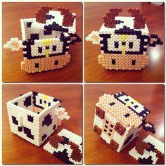 Cow box perler beads by nightblur