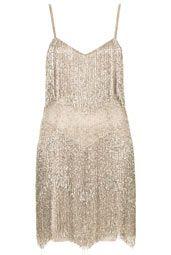 **Robe à volants avec franges perlées Kate Moss pour Topshop