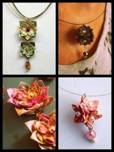 A terrific step-by-step origami jewellery tutorial! What a find!