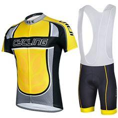 Buy Cheji Men s Cycling Jerseys Bib Shorts Set Color Yellow 10007597 from  Reliable Cheji Men s Cycling Jerseys Bib Shorts Set Color Yellow 10007597  ... fe7a400aa