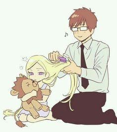 Kazuma and Bishamon // Noragami ~So kawaii! Noragami Anime, Bishamonten Noragami, Noragami Cosplay, Yato And Hiyori, Chibi, Film Anime, Manga Anime, Shugo Chara, Noragami Season 2