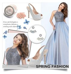 A-line Scoop Floor-length Taffeta Prom Dress by johnnymuller on Polyvore featuring Lauren Lorraine and Aéropostale