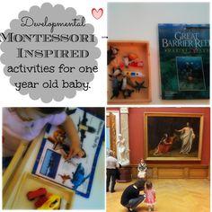 Developmental Montessori - Inspired activities for an one year old. | Montessori Nature