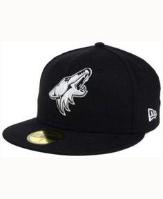 New Era Arizona Coyotes Black Dub 59FIFTY Cap - Black 7 1/4