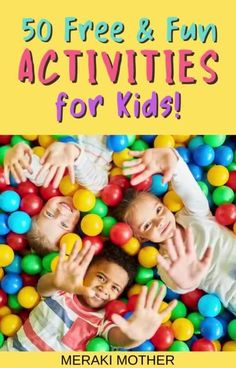 If you are looking for free activities to do with kids to keep them happy and busy read our list of 50 free activities for kids! #forkids #activitiesforkids #free Free Activities For Kids, Crafts For Kids, A Dime, Free Fun, Meraki, Kid Friendly Meals, Travel With Kids, Parenting Advice, Learning
