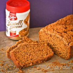 Pumpkin Biscoff Bread by Love From The Oven. Don't taste biscoff spread unless you're OK with being addicted to it. Pumpkin Pie Mix, Pumpkin Butter, Pumpkin Dessert, Canned Pumpkin, Pumpkin Spice, Pumpkin Pumpkin, Best Pumpkin Bread Recipe, Pumpkin Recipes, Fall Recipes
