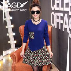 Find More Dresses Information about New Spring Dresses Fall Dress Woolen Sweater Loose Women's Dress Casual A line O neck Knee length 2016 New Arrival Casual,High Quality dresses princess,China dress right dress Suppliers, Cheap dress wrestling from Angel Growth Diary on Aliexpress.com