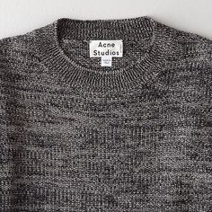 Acne Studios grey sweater perfection (sorry I get excited by this stuff...)