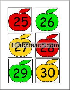 Apples printables from ABC Teach