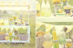 Lemonade Stand: great for a summer birthday party