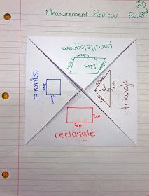 photo of area and perimeter math journal entry @ Runde's Room