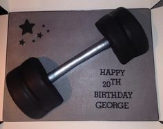 Dumbbell cake for gym lovers!   cake. Bespoke cakes and cupcakes Morden South West London (Gallery)