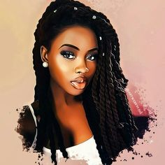 Quotes Nature Keys Ideas For 2019 Black Love Art, Black Girl Art, Black Is Beautiful, Art Girl, Natural Hair Art, Natural Hair Styles, Drawings Of Black Girls, Coiffure Hair, Afrique Art