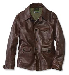 The railroad that transformed America took six years and thousands of men to build. Once completed, the Transcontinental Railroad took an army of workers to keep the rails running. This Italian leather, limited-edition, signed reproduction of a railroad workman's jacket from the pre-1930s era faithfully resurrects the original design.