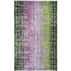 Designers Guild Colonhade Rug Moss ($1,440) ❤ liked on Polyvore featuring home, rugs, purple, purple area rugs, checkered rug, patterned rugs, ombre rug and designers guild rugs