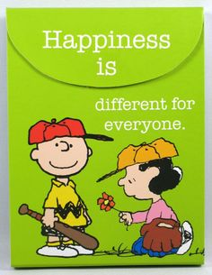 Charlie Brown & Lucy - Happiness Is Different For Everyone