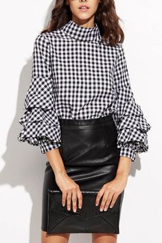 #blouse #women #fashion #streetstyle #bloggerstyle #maykool #plaid #layered