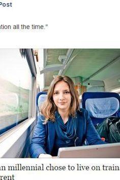 """Leonie Müller, tedesca di 23 anni, decide di vivere su un treno: """"Non volevo più pagare laffitto. Ora mi sento sempre in vacanza"""" (FOTO)"""