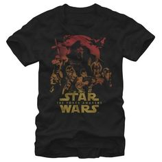 ab680466 Star Wars The Force Awakens- Crucial Characters Movies T-Shirt Basketball  Shirts, Star