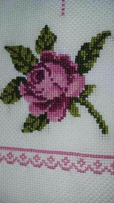 The most beautiful cross-stitch pattern - Knitting, Crochet Love Cross Stitch Beginner, Simple Cross Stitch, Cross Stitch Rose, Cross Stitch Borders, Cross Stitch Samplers, Cross Stitch Flowers, Cross Stitch Charts, Cross Stitching, Cross Stitch Embroidery