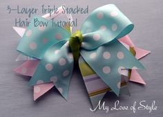 EASY DIY Boutique Hair Bow Tutorial | 3 Layer Stacked Boutique Hair Bow
