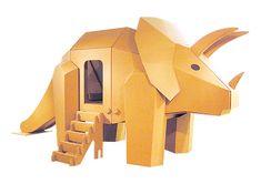 Eiji Hiyama cardboard design  トリケラトプス    http://www.papyrus-hiyama.com/index.html