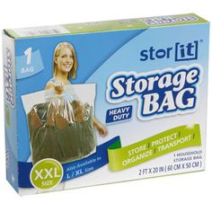 Dollar Tree | Stor-It XX-Large Plastic Storage Bags with Handles