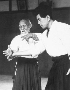 """Morihei Ueshiba: """"I am what I am because I trained hard style for 60 years. What can you do?""""  via Aikido Journal. S)"""
