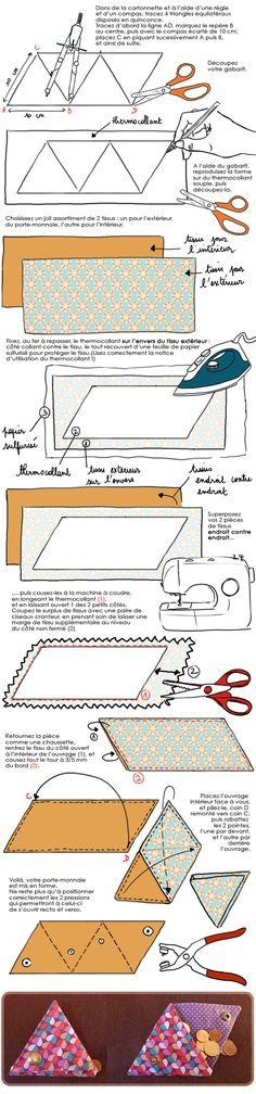 DIY idée cadeaux : confectionner un porte-monnaie en tissu - M6 Deco.fr