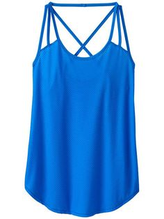Athleta Powerhouse Mesh Tank in Macaw Blue