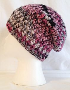 Hand crochet slouch beanie soft and thick made to by jeniebug76, $23.00