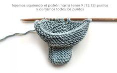 Knitted Baby Booties – Easy Pattern & Tutorial, Knitted Baby Booties -Two needle EASY Knitting Pattern & tutorial. Easy Baby Knitting Patterns, Baby Cardigan Knitting Pattern Free, Baby Booties Knitting Pattern, Crochet Slipper Pattern, Knit Baby Booties, Baby Hats Knitting, Easy Knitting, Baby Patterns, Booties Crochet