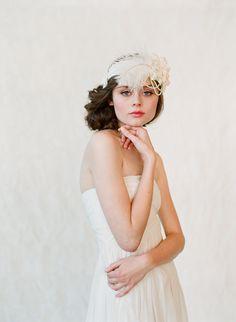 Wedding headband, bridal hair piece, feather, pearl - Flapper inspired bridal headband - Style 148 - Made to Order from myrakim on Etsy. Flapper Wedding, Great Gatsby Wedding, Vintage Wedding Hair, 1920s Wedding, Vintage Bridal, Wedding Headband, Bridal Hair, Wedding Headdress, Wedding Updo