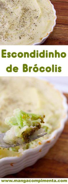 Escondidinho de Brócolis - prepare esse prato delicioso para o almoço da semana. #receita #vegetariano #comida #almoço