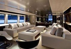 Lounge area, superyacht M/YSatori designed by Remi Tessier (Fraser Yachts) _