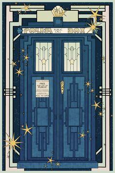 Art Deco TARDIS by ruebella-b.deviantart.com on @DeviantArt