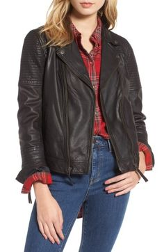 Free shipping and returns on Treasure & Bond Quilted Leather Moto Jacket at Nordstrom.com. Quilted panels and metallic hardware play up the rocker-chic vibe of a moto-inspired jacket crafted from luxuriously soft leather. The versatile piece is fully lined for a smooth and comfortable fit over anything in your closet.When you buy Treasure & Bond, Nordstrom will donate 2.5% of net sales (that's 5% of net profits) to organizations that work to empower youth.