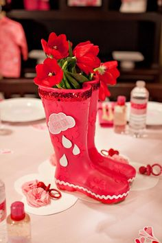 Rainboot Flower Vase