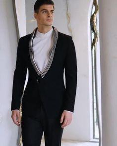 Indian Men Fashion, Mens Fashion Suits, Mens Suits, Fashion Outfits, Wedding Dresses Men Indian, Wedding Dress Men, Wedding Suits, Mens Designer Shirts, Designer Suits For Men
