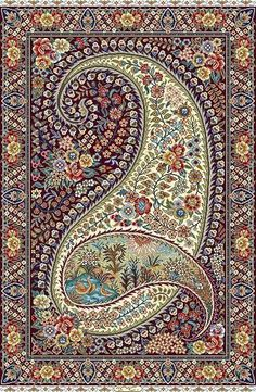 Boteh-Jegheh (a.a Paisley), is an asymmetrical geometric floral pattern that signifies royal sovereignty, and nobility. Motif Paisley, Paisley Art, Paisley Design, Paisley Pattern, Geometric Patterns, Persian Carpet, Persian Rug, Motif Oriental, Design Textile