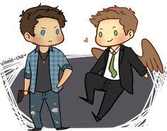 "vinnie-cha: ""Reverse!Verse Dean and Castiel ( ˊ꒵ˋ) ˚✧₊ """