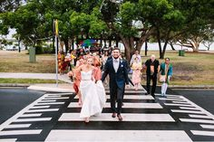 march across the street with your wedding guests!
