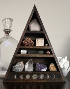 Moon Phase Large Crystal and Mineral collection door stoneandviolet, $225.00