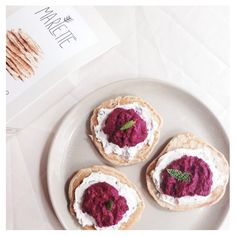 -> blinis and beet hummus by marlette <-