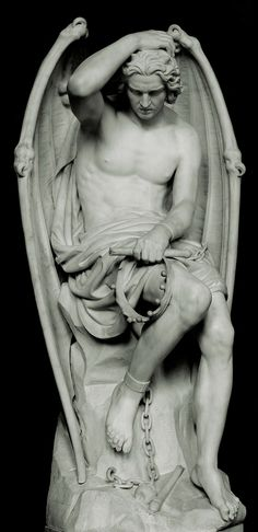 "Known in English as the ""Lucifer of Liège,"" its actual title is ""Le génie du mal"" — ""The Genius of Evil."" It was carved by Belgian sculpture Guillaume Geefs in 1848, and it depicts a tortured yet beautiful young man. As idealized as his image is, he is actually a replacement of another Lucifer carved by Guillaume's younger brother Joseph a few years earlier."