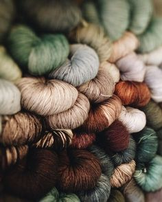 yarn in earth tones