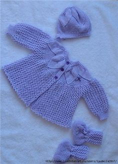 .Lace Leaf knits for baby